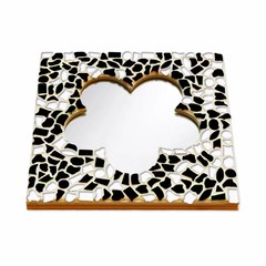 Cristallo Mozaiek pakket Spiegel Bloem Zwart-Wit