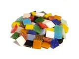 Cristallo Glas-mozaieksteentjes 1x1 cm Mix ca. 200 stuks