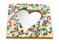 Mozaiek pakketten spiegels Hart