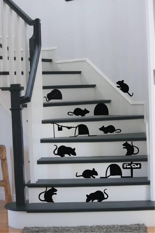 Grappige Keuken Teksten : Mouse Stair Decals