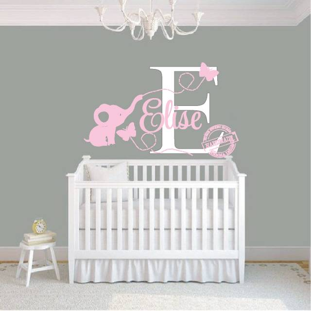 Muurdecoratie Babykamer Meisje.Muurstickers Babykamer Olifant Cartoonbox Info