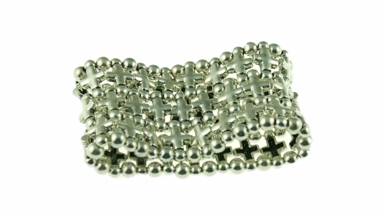 Metalen armband, elastiek   Il Dono, de online bijoux shop