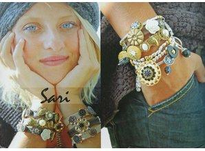 Sari Design metal button, budha koper