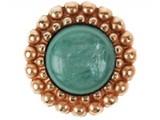 Sari Design rosé button/ pacific opal