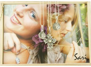 Sari Design bedel, groot, paars