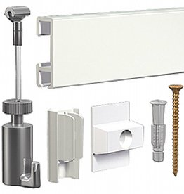 Ophangsysteem Click Rail SET WIT