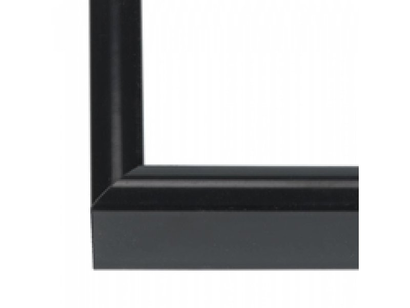 DLF Wissellijsten Q-line lak zwart - aluminium lijsten