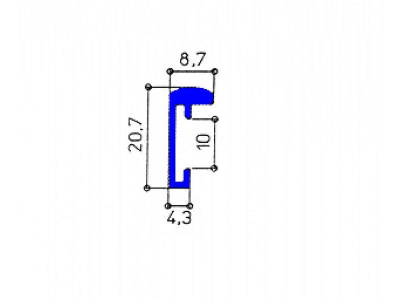 DLF Wissellijsten Q-line licht rood- aluminium design lijsten