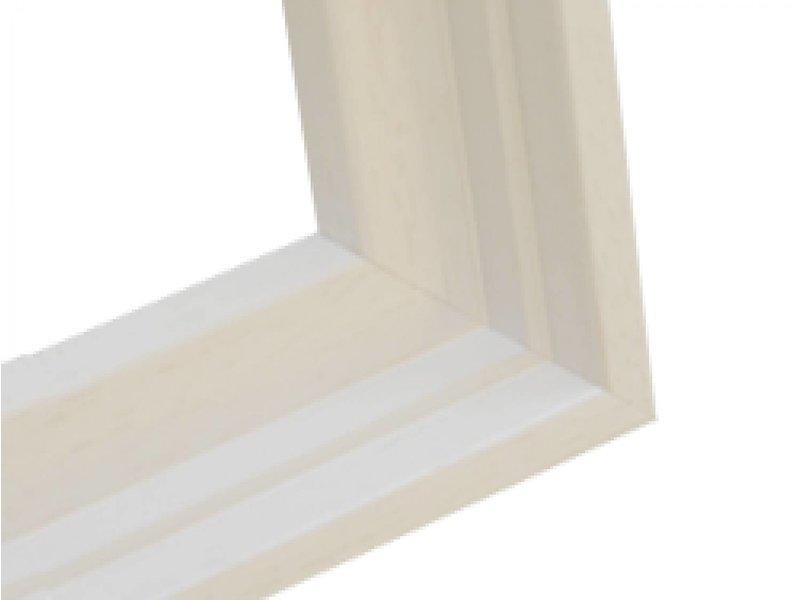 DLF Premium baklijst wit gewassen - luxe houten baklijsten