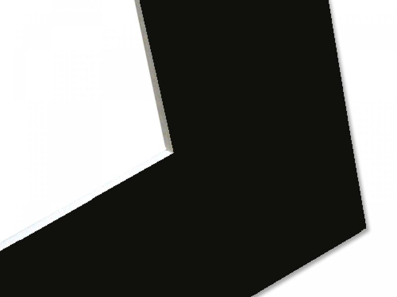 DLF Basic Passe-partouts Smooth black met een witte kern