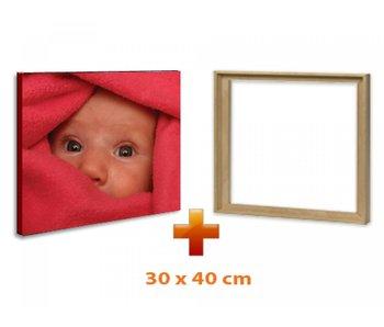 Eigen foto op canvas 30 x 40 cm met baklijst