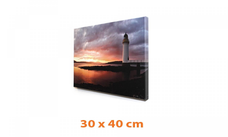 eigen foto op canvas 30 x 40 cm ingelijst in baklijst de lijsten fabriek. Black Bedroom Furniture Sets. Home Design Ideas