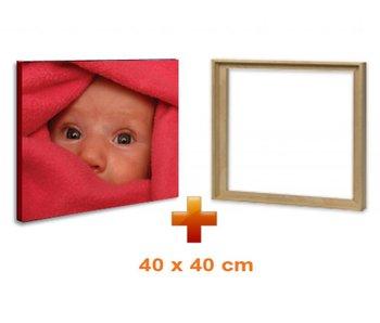 Eigen foto op canvas 40 x 40 cm met baklijst