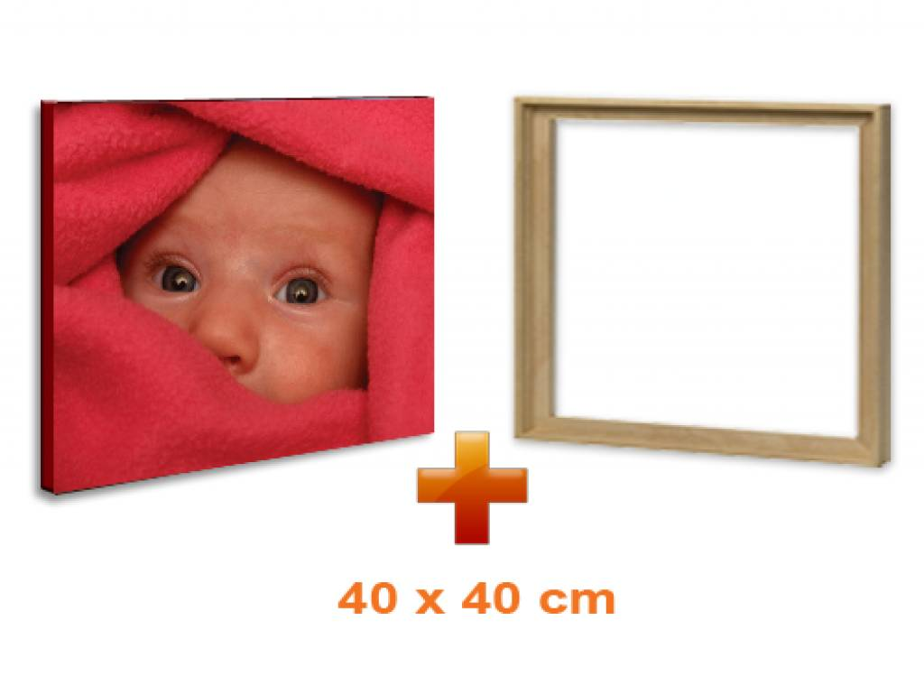 eigen foto op canvas 40 x 40 cm ingelijst in baklijst de lijsten fabriek. Black Bedroom Furniture Sets. Home Design Ideas