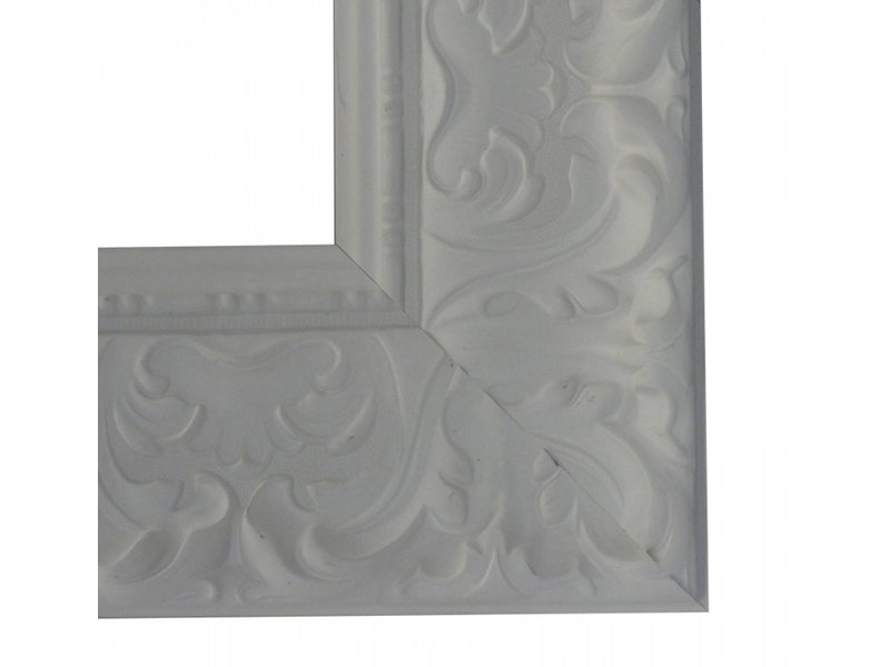 DLF Premier Ornament XL mat wit - zeer brede lijst met ornament