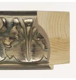 DLF Premier Ornament XL-S zilver bruin - zeer brede lijst met ornament