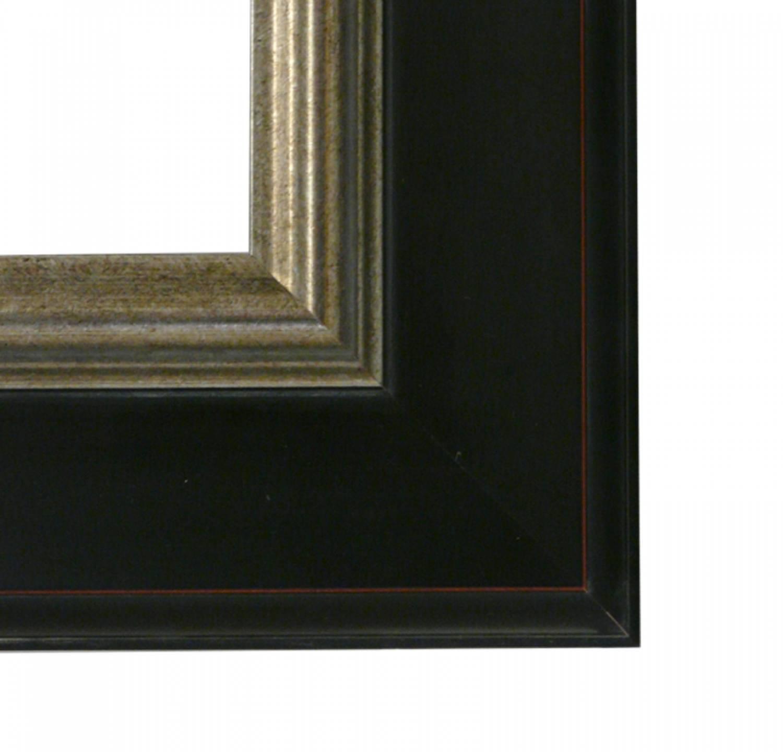 dlf premier century xl zwart zilver zeer brede lijst met opstaande rand de lijsten fabriek. Black Bedroom Furniture Sets. Home Design Ideas