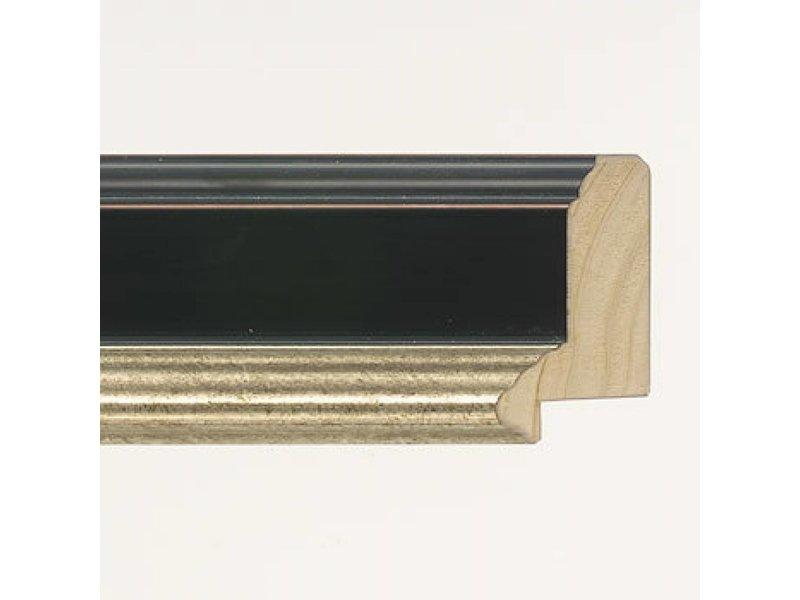 DLF Premier Century L zwart zilver - brede lijst met opstaande rand