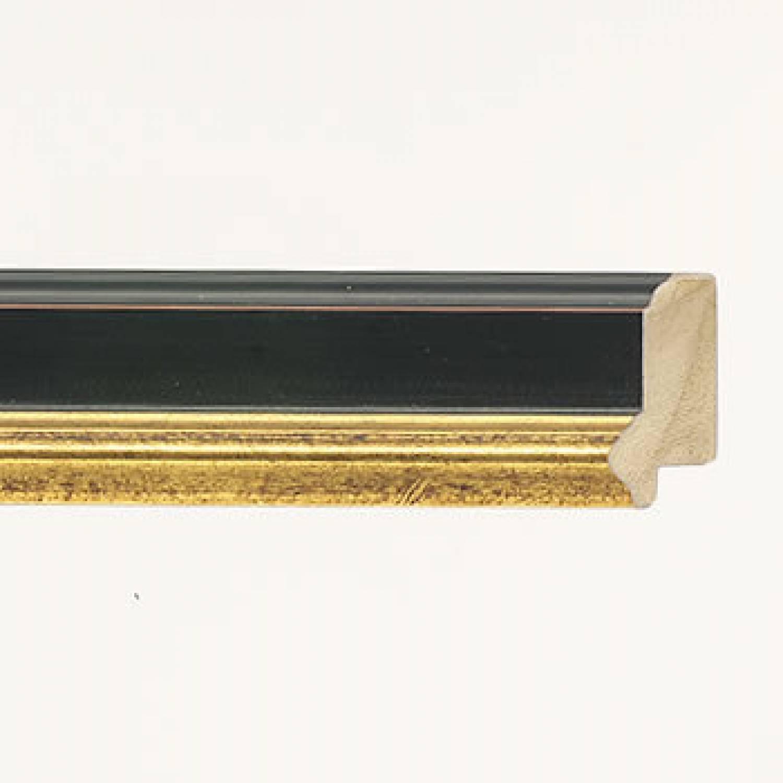 DLF Premier Century M zwart goud   lijst met opstaande rand   De Lijsten Fabriek