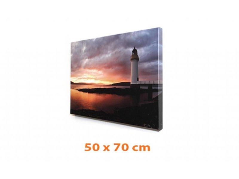 DLF Eigen foto op canvas 50 x 70 cm in baklijst ingelijst