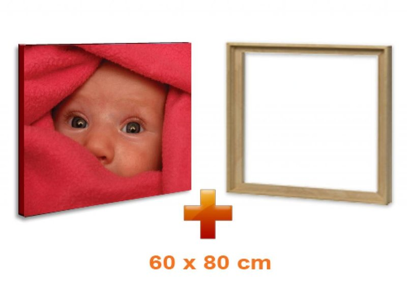 DLF Eigen foto op canvas 60 x 80 cm in baklijst ingelijst