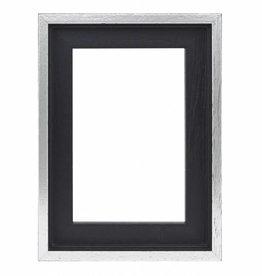 De Lijsten Fabriek Premium Baklijst zwart/zilver