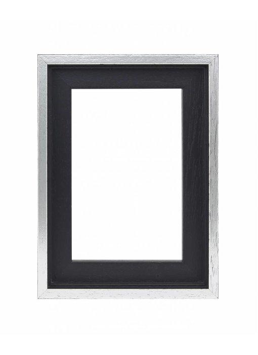 Premium Baklijst zwart/zilver