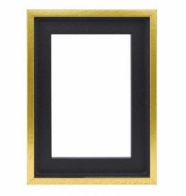 De Lijsten Fabriek Premium Baklijst zwart/goud