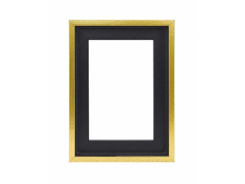 DLF Premium Baklijst zwart/goud - inlijsten schilderij of foto op doek