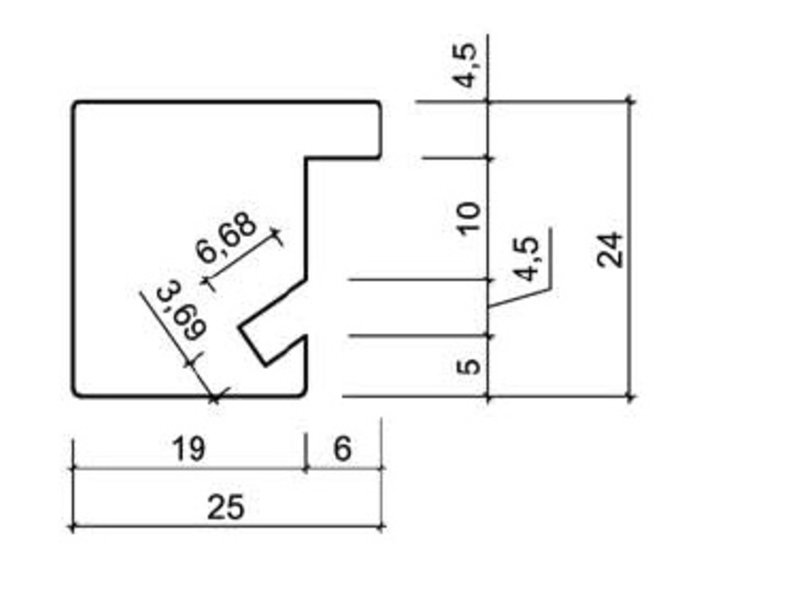 DLF Wissellijsten Phantom Noten - houten luxe lijsten