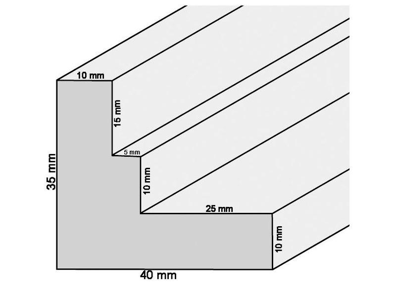DLF Extra snel leverbare baklijsten Ambiance zwart hout met trap