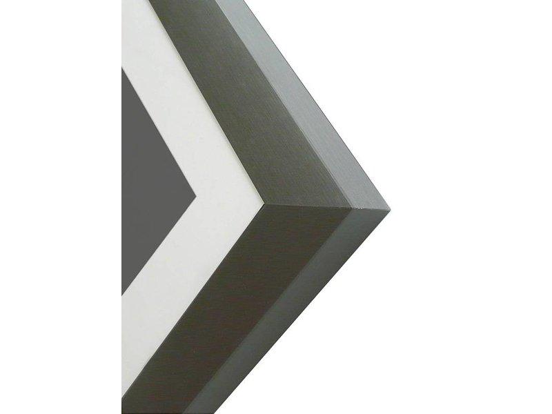 DLF Pro Line XL mat gepolijst zwart, wissellijsten in het mat gepolijst zwart