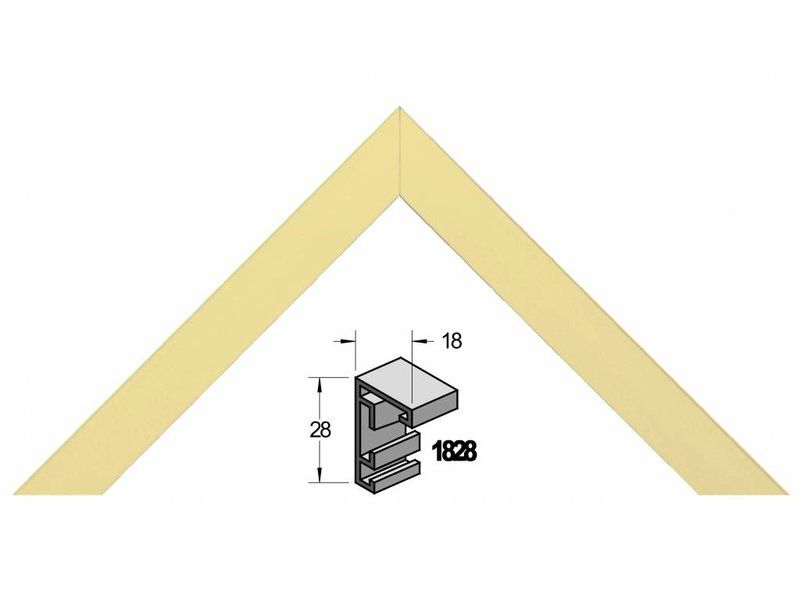Barth Wissellijst aluminium wissellijst 1828 WG wit goud
