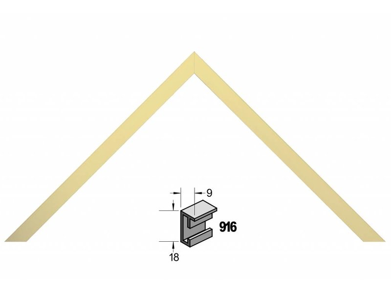 Barth Wissellijst aluminium wissellijst 916WG wit goud