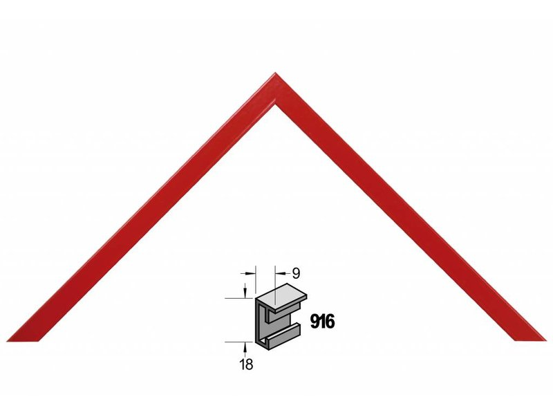 Barth Wissellijst aluminium wissellijst 916RD rood