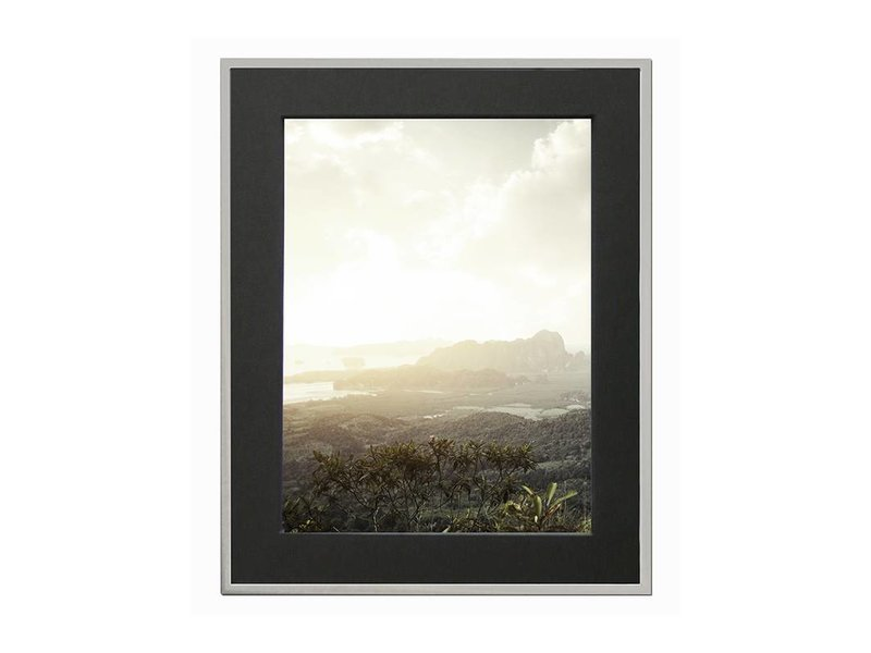 DLF 21x29,7 cm (A4) zilver Pro Line wissellijst  extra solide fotolijsten met een smal profiel.