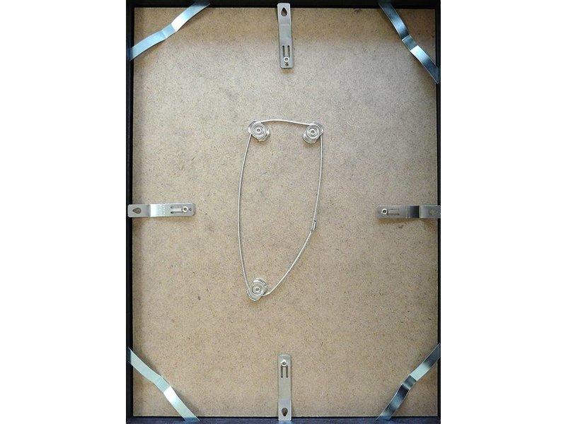 DLF 60x60 cm zilver Pro Line wissellijst  extra solide fotolijsten met een smal profiel.