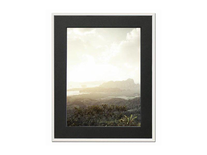 DLF 40x40 cm witte Pro Line wissellijst  extra solide fotolijsten met een smal profiel.