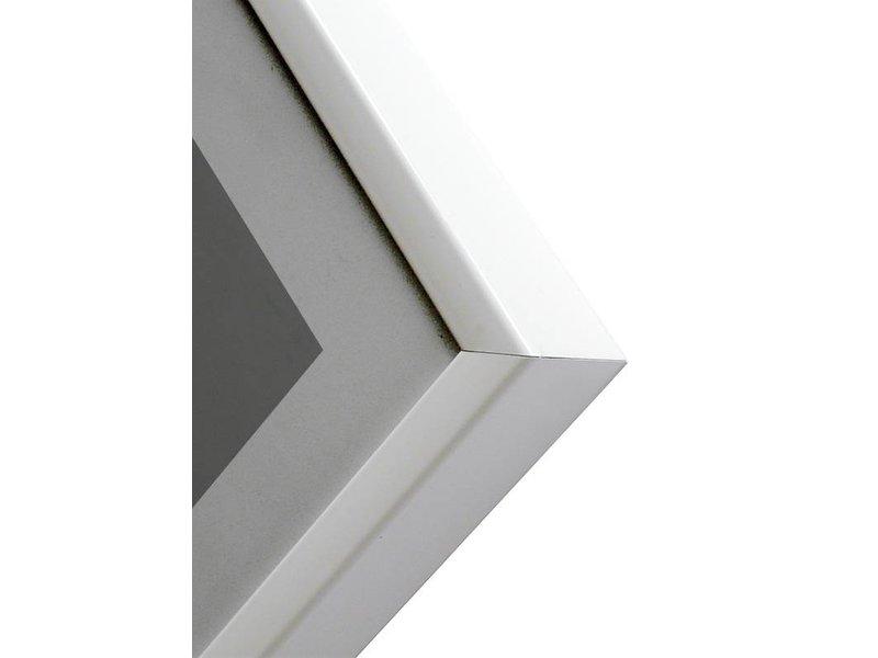 DLF 60x90 cm witte Pro Line wissellijst  extra solide fotolijsten met een smal profiel.