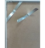 DLF 62x93 cm witte Pro Line wissellijst  extra solide fotolijsten met een smal profiel.