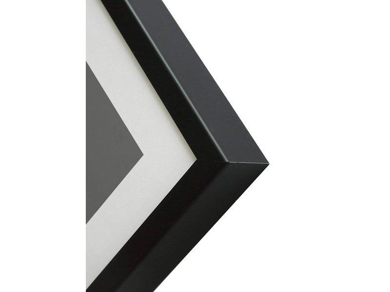 DLF 50x65 cm zwarte Pro Line wissellijst  extra solide fotolijsten met een smal profiel.