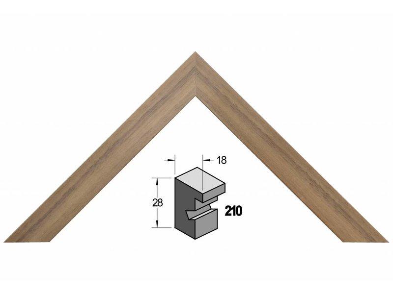 Barth Amerikaans noten (walnoot) houten Barth wissellijst 210-555