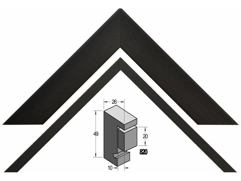 Barth Box frame Barth 3D 20 mm diepe lijst 820-127 zwart