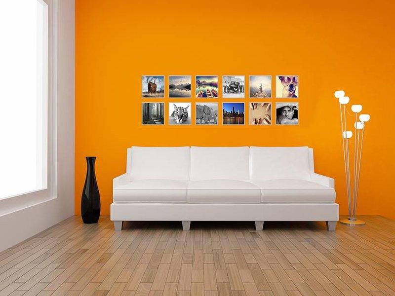 DLF Collage met 30 x 30 cm B-Line aluminium B-Line wissellijsten mat zilver, met extra voordeel