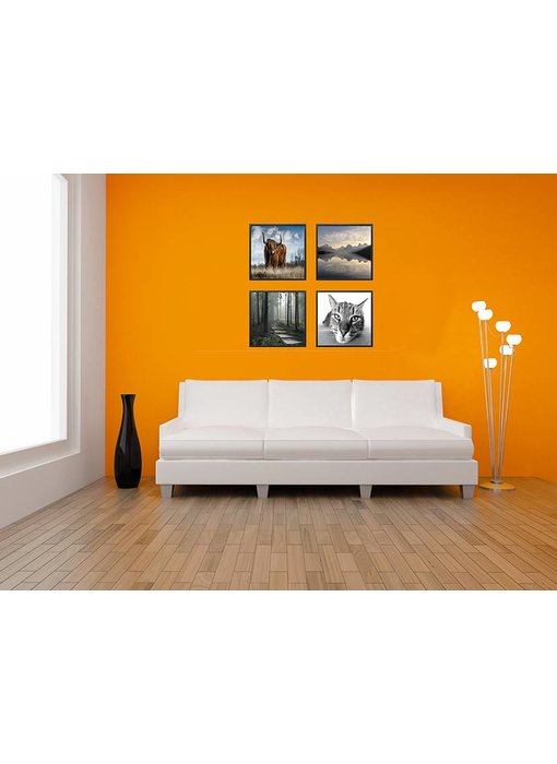 Collage zwarte 40 x 40 cm lijsten B-Line mat zwart