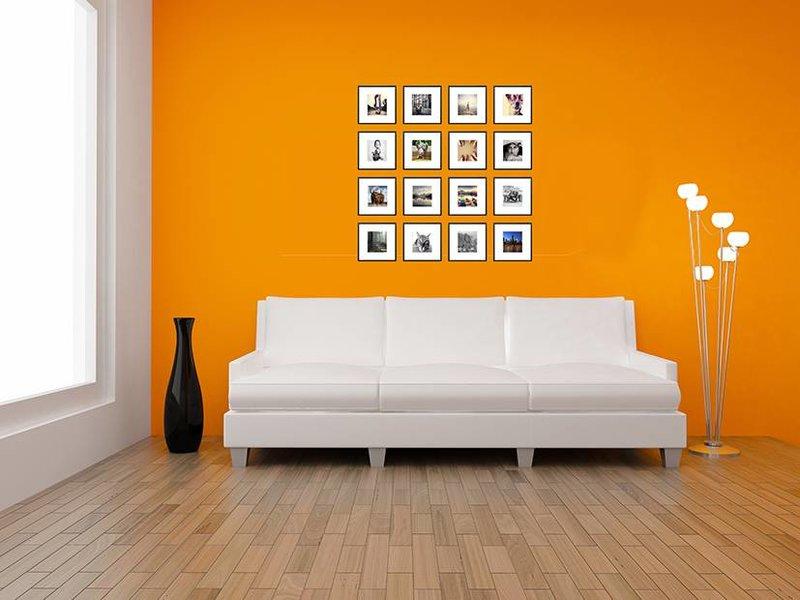 DLF Collage met 20 x 20 cm B-Line aluminium B-Line wissellijsten mat zwart, met extra voordeel