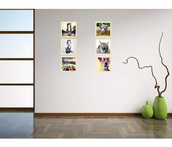 Collage 30 x 30 cm houten lijsten Premium Line blank hout
