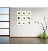 DLF Collage met 30 x 30 cm Premium Line houten wissellijsten blank hout, met extra voordeel