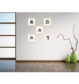 DLF Collage met 40 x 40 cm Premium Line houten wissellijsten blank hout, met extra voordeel