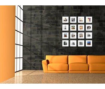 Collage zwarte 20 x 20 cm lijsten D-Line mat zwart